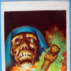 Cómics: DIBUJO ORIGINAL COLOR, PORTADA S.O.S. SOS Nº 56 ,TERROR , ORIGINAL , K. Lote 67329837