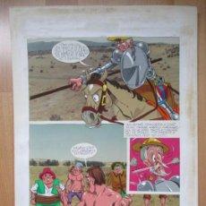 Cómics: DIBUJO ORIGINAL DON QUIJOTE DE LA MANCHA, PINTADO A MANO, 1972, VOL. 2 - PAG.105. Lote 67870057