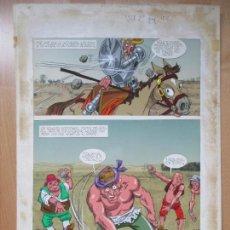 Cómics: DIBUJO ORIGINAL DON QUIJOTE DE LA MANCHA, PINTADO A MANO, 1972, VOL. 2 - PAG.106. Lote 67870213