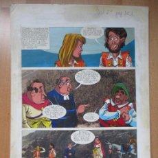 Cómics: DIBUJO ORIGINAL DON QUIJOTE DE LA MANCHA, PINTADO A MANO, VOL. 2 - PAG.161. Lote 67968981