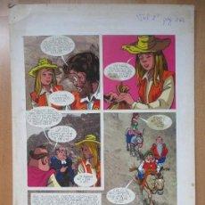 Cómics: DIBUJO ORIGINAL DON QUIJOTE DE LA MANCHA, PINTADO A MANO, VOL. 2 - PAG.163. Lote 67969409