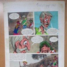 Cómics: DIBUJO ORIGINAL DON QUIJOTE DE LA MANCHA, PINTADO A MANO, VOL. 2 - PAG.166. Lote 67969897