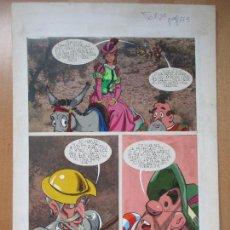 Cómics: DIBUJO ORIGINAL DON QUIJOTE DE LA MANCHA, PINTADO A MANO, VOL. 2 - PAG.173. Lote 67971585