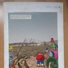 Cómics: DIBUJO ORIGINAL DON QUIJOTE DE LA MANCHA, PINTADO A MANO, VOL. 2 - PAG.175. Lote 67972301