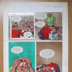 Cómics: DIBUJO ORIGINAL DON QUIJOTE DE LA MANCHA, PINTADO A MANO, VOL. 2 - PAG.186. Lote 67973525