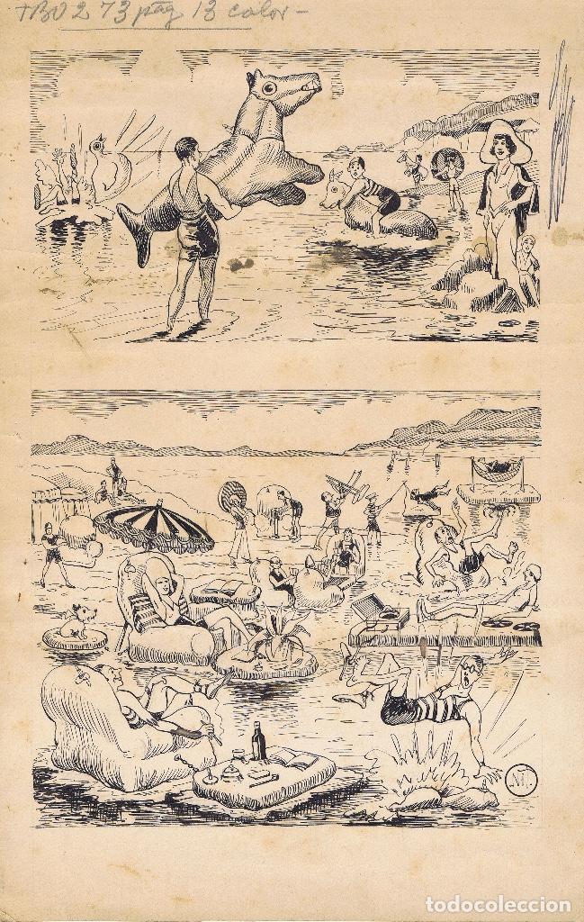 ORIGINAL DE NIT PUBLICADO EN TBO (Tebeos y Comics - Comics - Art Comic)