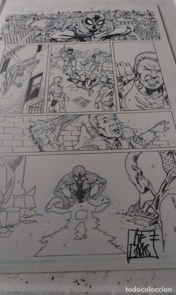 SPIDERMAN SPIDER-MAN .FAMILY.6. RAMON BACHS.ART COMIC ORIGINAL. (Tebeos y Comics - Art Comic)