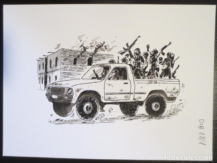 DIBUJO ORIGINAL DE PALLARES (Tebeos y Comics - Comics - Art Comic)