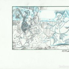 Cómics: DIBUJO ORIGINAL DISNEY ESTEBAN. Lote 72690863