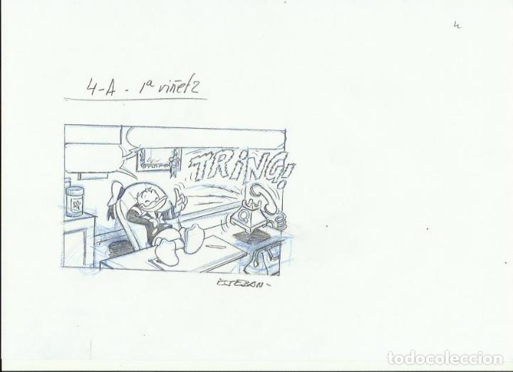 DIBUJO ORIGINAL DISNEY DE ESTEBAN (Tebeos y Comics - Art Comic)