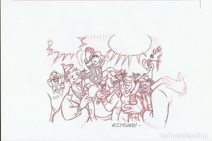 DIBUJO ORIGINAL DISNEY DE ESTEBAN (Tebeos y Comics - Comics - Art Comic)
