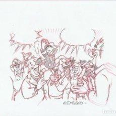 Cómics: DIBUJO ORIGINAL DISNEY DE ESTEBAN. Lote 72700655