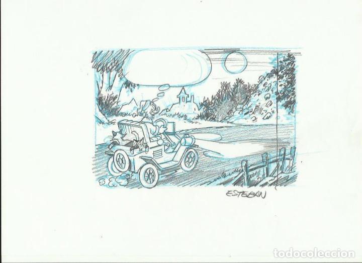DIBUJO TIO GILITO DISNEY DE ESTEBAN (Tebeos y Comics - Comics - Art Comic)