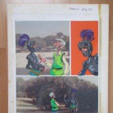 Cómics: DIBUJO ORIGINAL DON QUIJOTE DE LA MANCHA, PINTADO A MANO, TOMO 3 - PAG.76. Lote 75247011