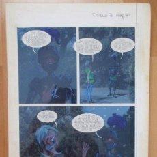 Cómics: DIBUJO ORIGINAL DON QUIJOTE DE LA MANCHA, PINTADO A MANO, TOMO 3 - PAG.71. Lote 75247975