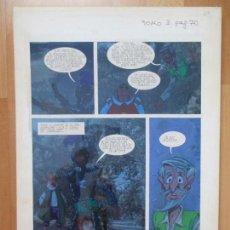 Cómics: DIBUJO ORIGINAL DON QUIJOTE DE LA MANCHA, PINTADO A MANO, TOMO 3 - PAG.70. Lote 75248015