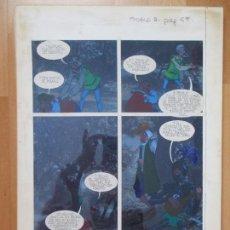 Cómics: DIBUJO ORIGINAL DON QUIJOTE DE LA MANCHA, PINTADO A MANO, TOMO 3 - PAG.69. Lote 75248047