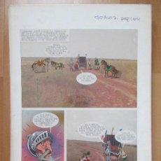 Cómics: DIBUJO ORIGINAL DON QUIJOTE DE LA MANCHA, PINTADO A MANO, 1972, TOMO 3 - PAG.104. Lote 75248623