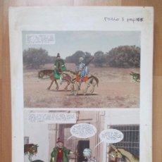 Cómics: DIBUJO ORIGINAL DON QUIJOTE DE LA MANCHA, PINTADO A MANO, 1972, TOMO 3 - PAG.106. Lote 75248739