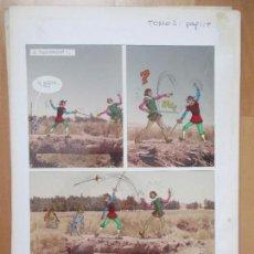 Cómics: DIBUJO ORIGINAL DON QUIJOTE DE LA MANCHA, PINTADO A MANO, 1973, TOMO 3 - PAG.119. Lote 75249971