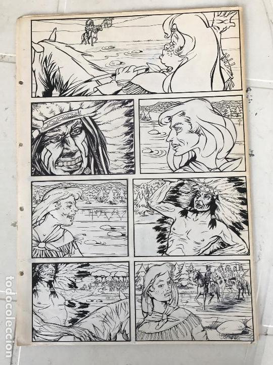 DIBUJO ORIGINAL A TINTA PARA ILUSTRACIÓN DE CÓMIC , ANÓNIMO. (Tebeos y Comics - Art Comic)