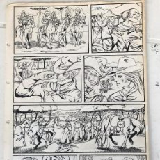 Cómics: DIBUJO ORIGINAL A TINTA PARA ILUSTRACIÓN DE CÓMIC , ANÓNIMO.. Lote 76233043