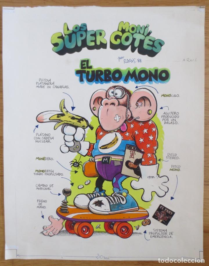 ORIGINAL RAMIS REVISTA SUPER LOPEZ (Tebeos y Comics - Comics - Art Comic)