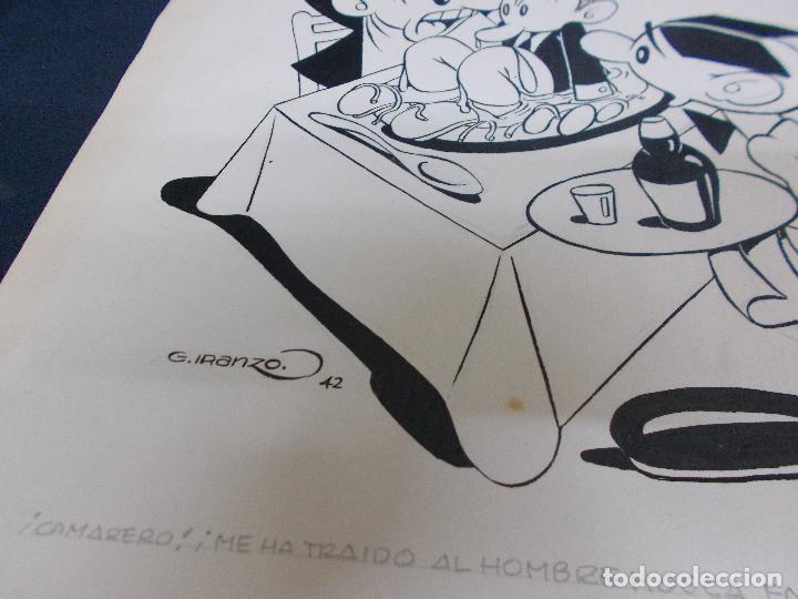 Cómics: DIBUJO ORIGINAL DE JUAN GARCIA IRANZO - FIRMADO - AÑO 1942 - Foto 5 - 79032489
