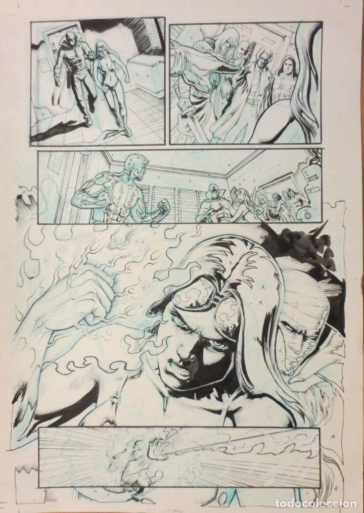 ORIGINAL ATILIO ROJO ORIGINAL PAGE COMIC ART (Tebeos y Comics - Comics - Art Comic)