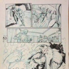 Cómics: ORIGINAL ATILIO ROJO ORIGINAL PAGE COMIC ART. Lote 79040025