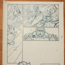 Cómics: PAGINA ORIGINAL TRANSFORMERS ATILIO ROJO COMIC ART PAGE. Lote 79040673