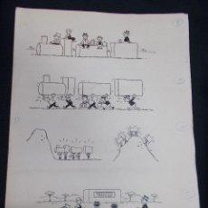 Cómics: DIBUJO ORIGINAL JUAN GARCIA IRANZO (SIN FIRMAR) - 47 CM X 34 CM.. Lote 80437365