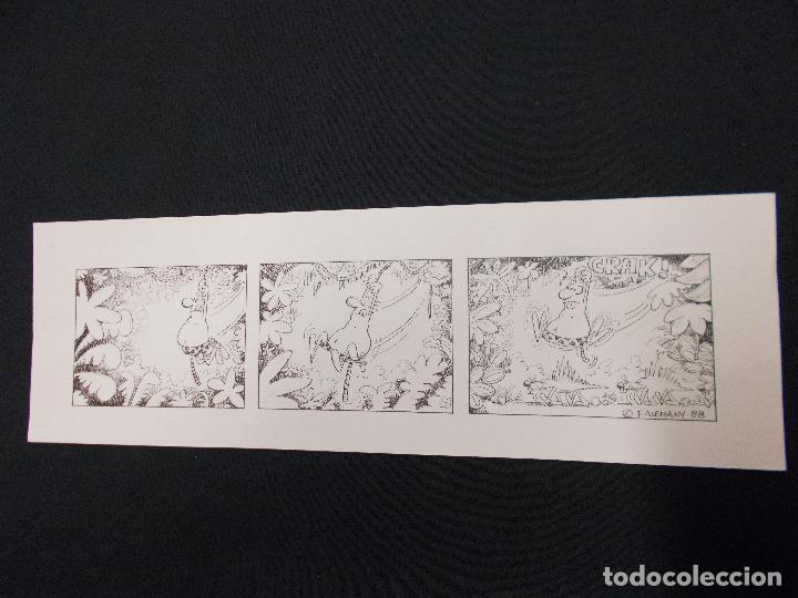 DIBUJO ORIGINAL FIRMADO F. ALEMANY - 42 CM X 13,5 CM. - 1.988 (Tebeos y Comics - Art Comic)