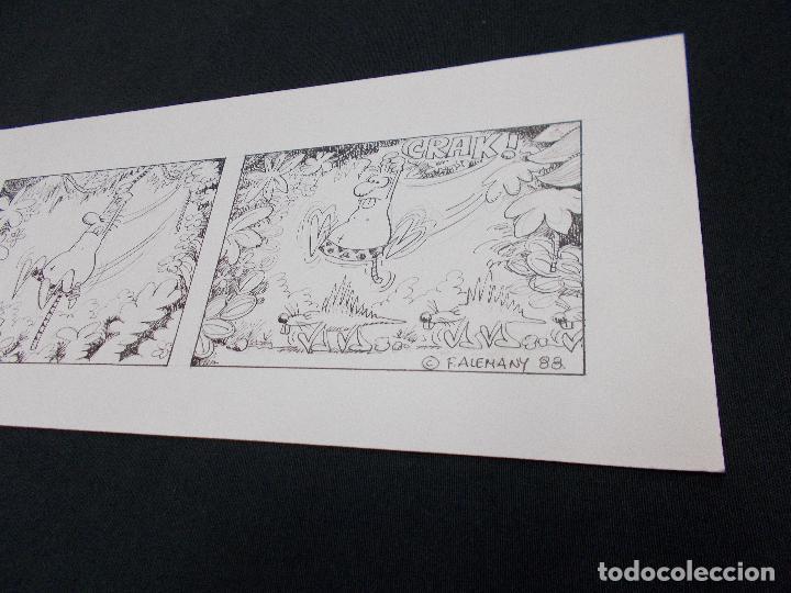 Cómics: DIBUJO ORIGINAL FIRMADO F. ALEMANY - 42 CM X 13,5 CM. - 1.988 - Foto 2 - 80437953