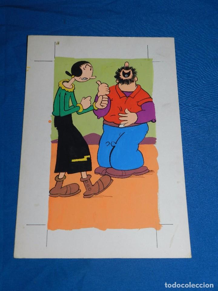 Cómics: POPEYE - DIBUJO ORIGINAL AÑOS 80 , 31 X 21'5 CM, NO ESTA FIRMADO. BUEN ESTADO - Foto 2 - 81932968