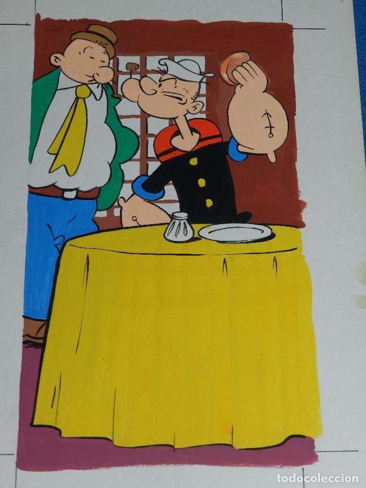 POPEYE - DIBUJO ORIGINAL AÑOS 80 , 31 X 21'5 CM, NO ESTA FIRMADO. BUEN ESTADO (Tebeos y Comics - Art Comic)