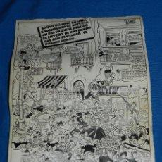Cómics: DIBUJO ORIGINAL DE J RIZO , PUBLICADO EN UN ALMANAQUE DE LA RISA , EDT MARCO. Lote 82021244