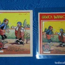 Cómics: PORTADA ORIGINAL DE JESUS BLASCO - CUENTOS BATURROS , PORTADA ORIGINAL A COLOR 19'5 X 16'5 CM. Lote 82021528