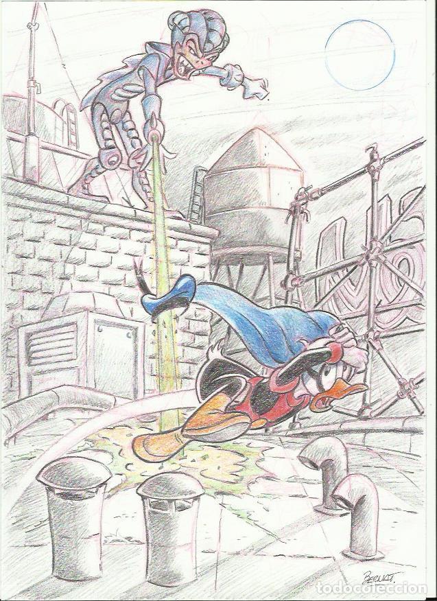 DIBUJO ORIGINAL PATOMAS (Tebeos y Comics - Comics - Art Comic)