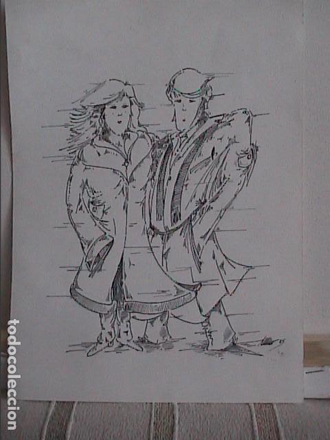 EXCELENTE DIBUJO ORIGINAL A TINTA DE CÓMIC. 1985. DESCONOZCO LA FIRMA. (Tebeos y Comics - Art Comic)