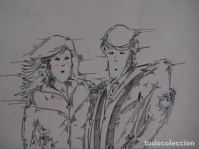 Cómics: EXCELENTE DIBUJO ORIGINAL A TINTA DE CÓMIC. 1985. DESCONOZCO LA FIRMA. - Foto 2 - 84310224