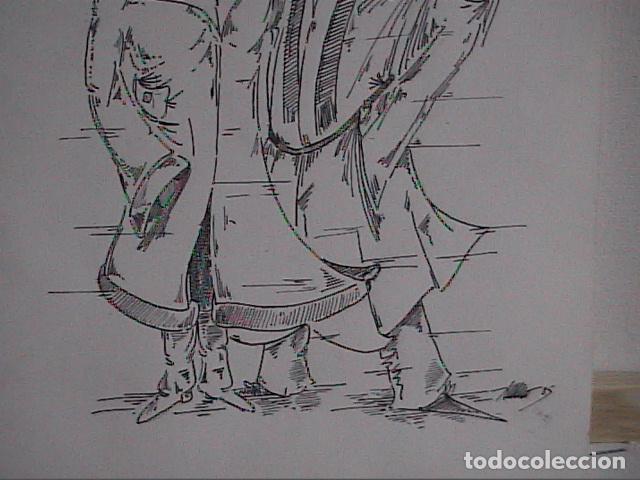 Cómics: EXCELENTE DIBUJO ORIGINAL A TINTA DE CÓMIC. 1985. DESCONOZCO LA FIRMA. - Foto 3 - 84310224