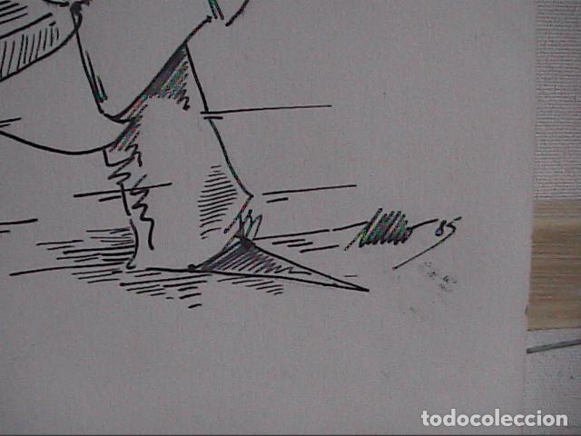 Cómics: EXCELENTE DIBUJO ORIGINAL A TINTA DE CÓMIC. 1985. DESCONOZCO LA FIRMA. - Foto 4 - 84310224
