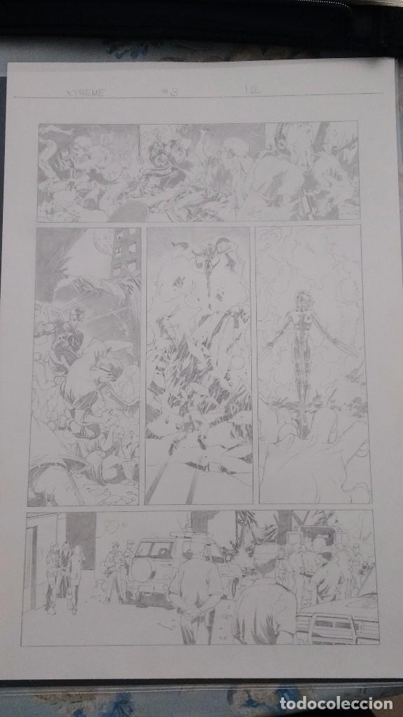 X-TREME X MEN, Nº 3, PÁG. 12, ORIGINAL ART/PLANCHA/ARTE ORIGINAL DE SALVADOR LARROCA (Tebeos y Comics - Art Comic)