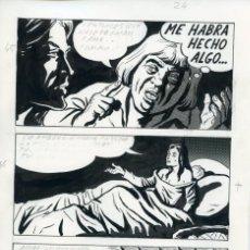 Cómics: PÁGINA ORIGINAL DE CÓMIC. FELIPE HERRANZ. AÑOS 70. Lote 85714792