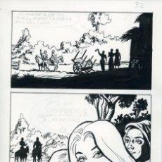 Cómics: PÁGINA ORIGINAL DE CÓMIC. FELIPE HERRANZ. AÑOS 70. Lote 85715536