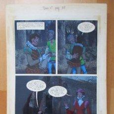 Cómics: DIBUJO ORIGINAL DON QUIJOTE DE LA MANCHA, PINTADO A MANO, VOL. 4 - PAG.101. Lote 86119580