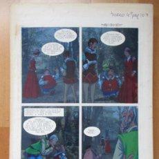 Cómics: DIBUJO ORIGINAL DON QUIJOTE DE LA MANCHA, PINTADO A MANO,1973, VOL. 4 - PAG.107. Lote 86119884