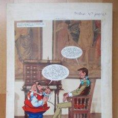 Cómics: DIBUJO ORIGINAL DON QUIJOTE DE LA MANCHA, PINTADO A MANO, VOL. 4 - PAG.108. Lote 86119980