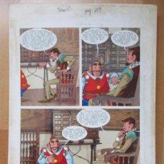 Cómics: DIBUJO ORIGINAL DON QUIJOTE DE LA MANCHA, PINTADO A MANO, VOL. 4 - PAG.109. Lote 86120020